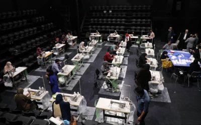 راهاندازی کارگاه خیریه تولید ماسک در تالار حافظ